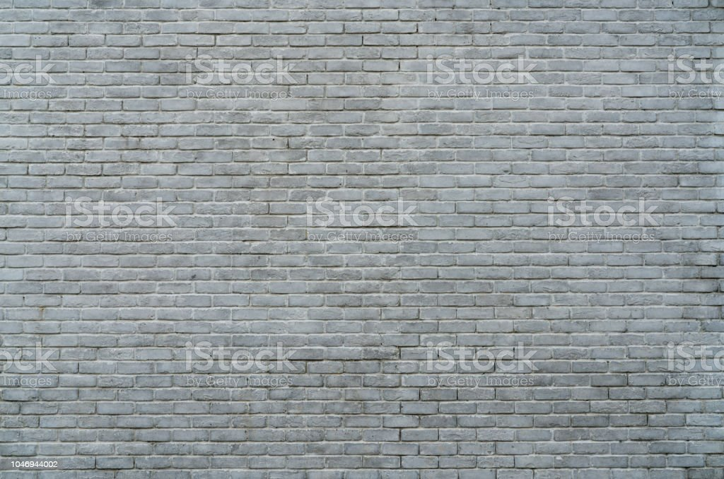 White And Grey Brick Wall Texture Background With Space For Text