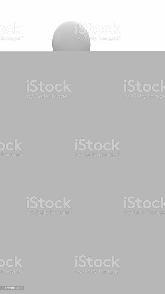 White and grey cotton thread at 3:36 royalty-free stock photo