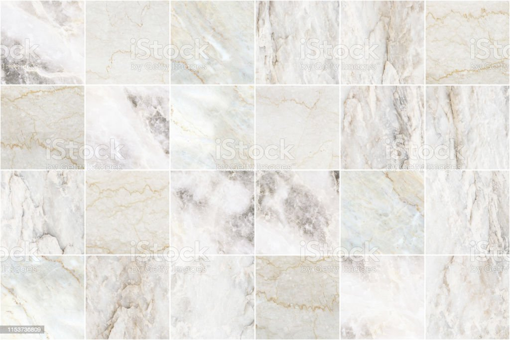White And Grey Marble Mosaic Wall Tile Texture Background Big Square Marble Tile With Natural Pattern Stock Photo Download Image Now Istock