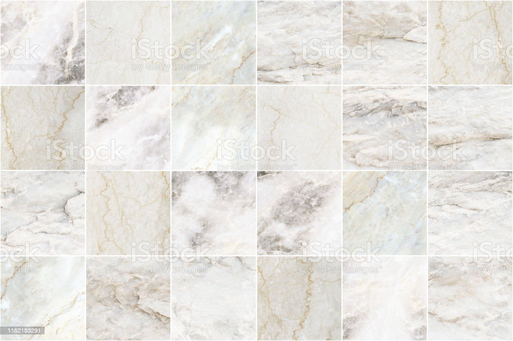 White And Grey Marble Mosaic Wall Tile Texture Background Square Marble Tile With Natural Pattern Stock Photo Download Image Now Istock