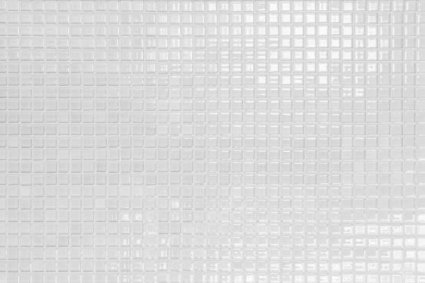 blanc et gris la vraie photo de carrelage mural haute résolution ou de la brique sans soudure et texture fond intérieur. - mosaïque photos et images de collection