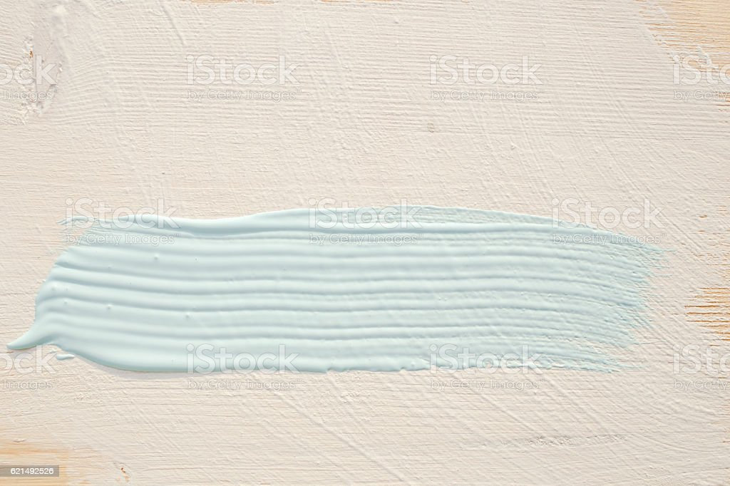 White and light blue paint layer on wood wall photo libre de droits