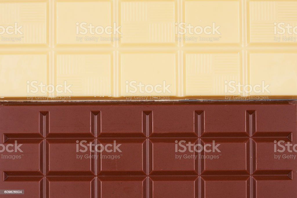 White and milk chocolate abstract background. stock photo
