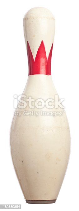 A plastic coated bowling pin.