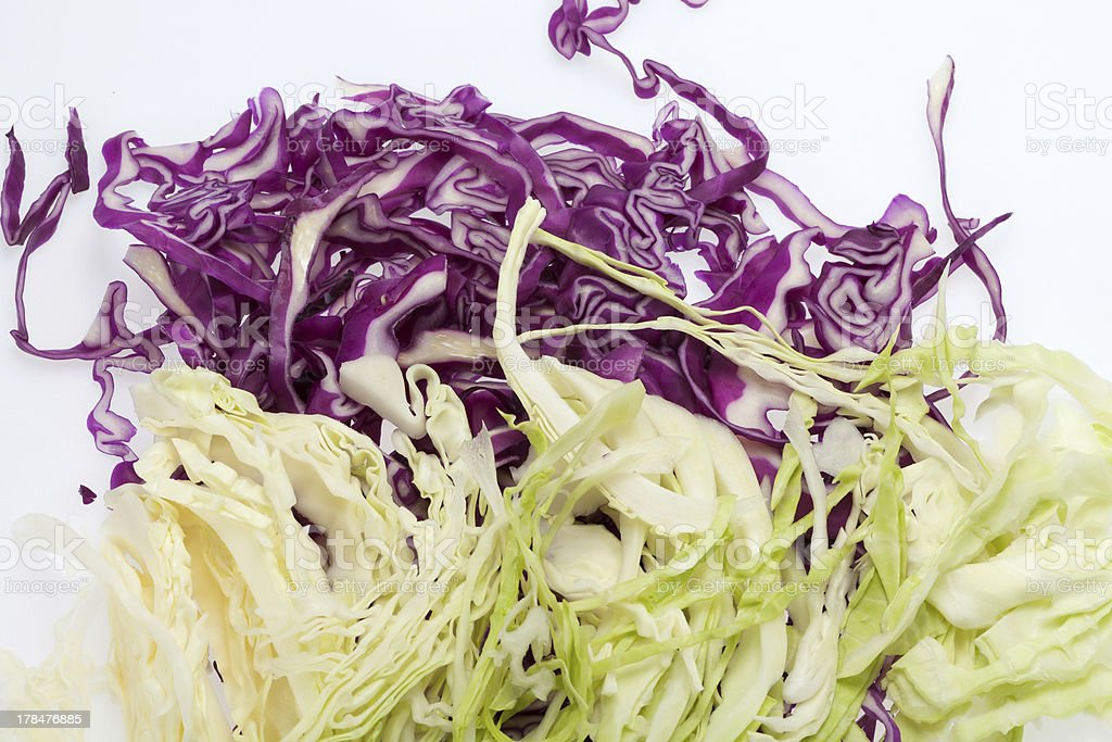 White and Red  Cabbage stock photo