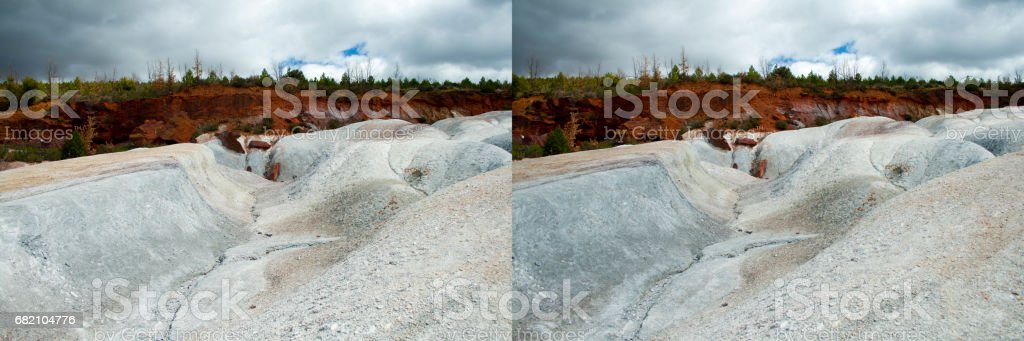 White And Red Contrast Soil Stereo Pair Stock Photo Download Image Now Istock