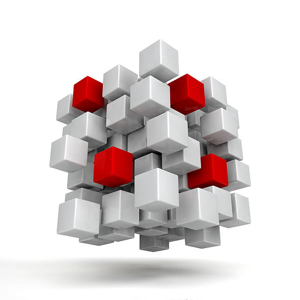 white and red cubes - Photo