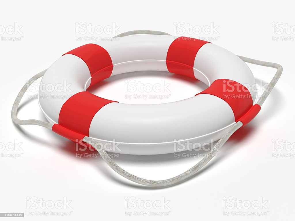 White And Red Life Ring The Sort Used Stock Photo & More