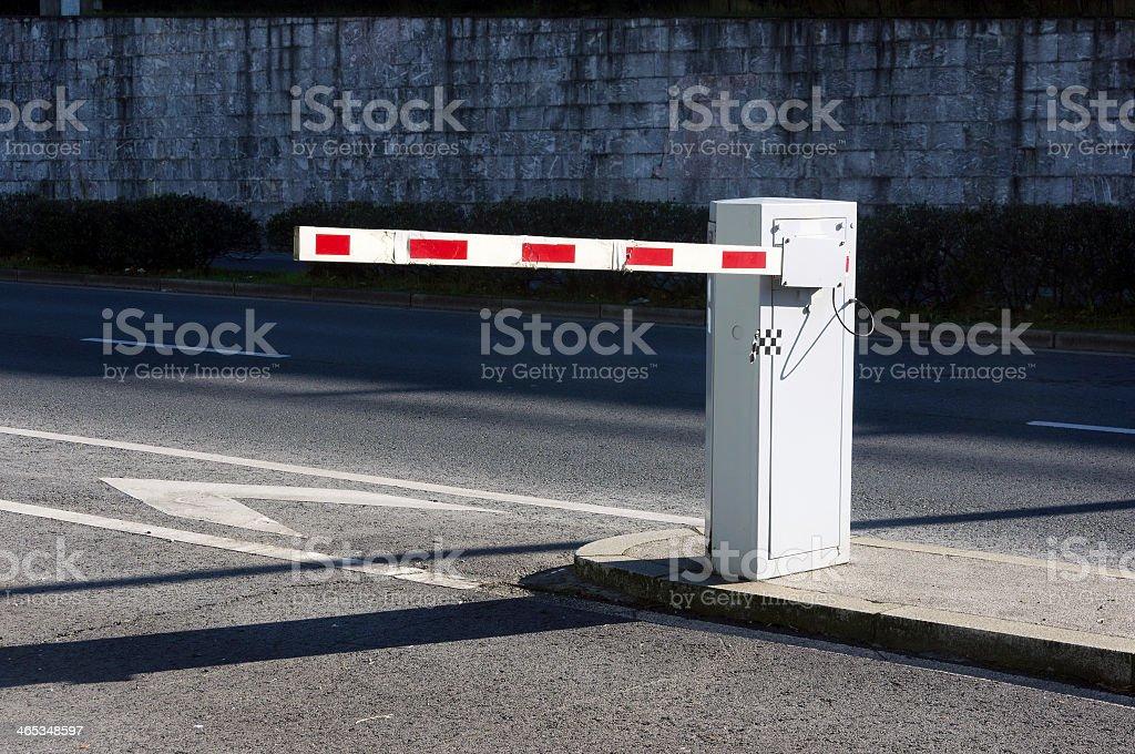 Vehículo barrera de seguridad - foto de stock