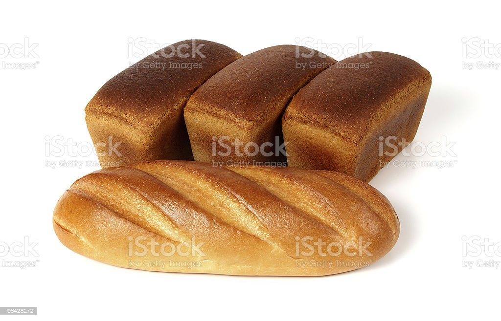 White and rye bread royalty-free stock photo