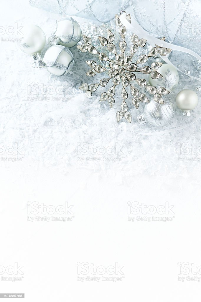 White And Silver Christmas Decorations Stock Photo Download Image Now Istock