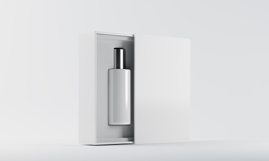 istock White and silver perfume bottle 612854496