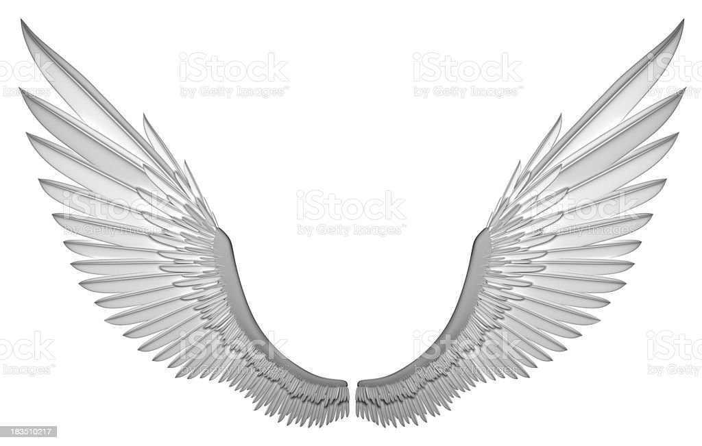 White angel wings royalty-free stock photo
