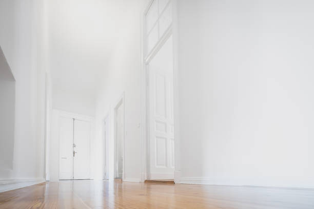 white apartment , empty room newly renovated - interior - cue ball stock pictures, royalty-free photos & images