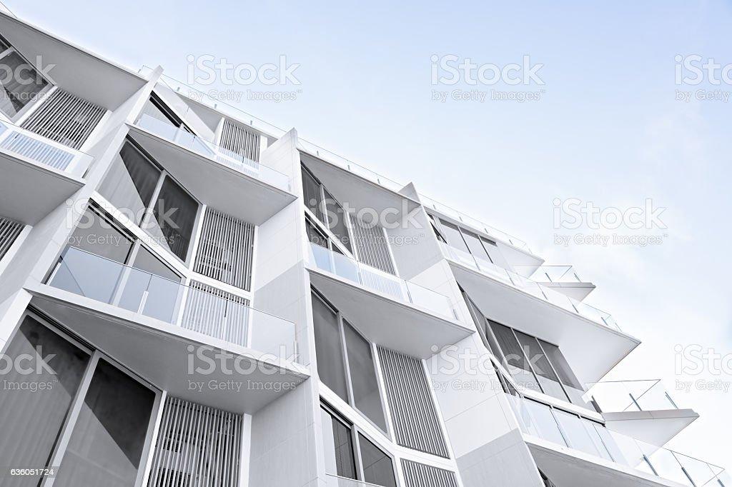 White apartment houses stock photo