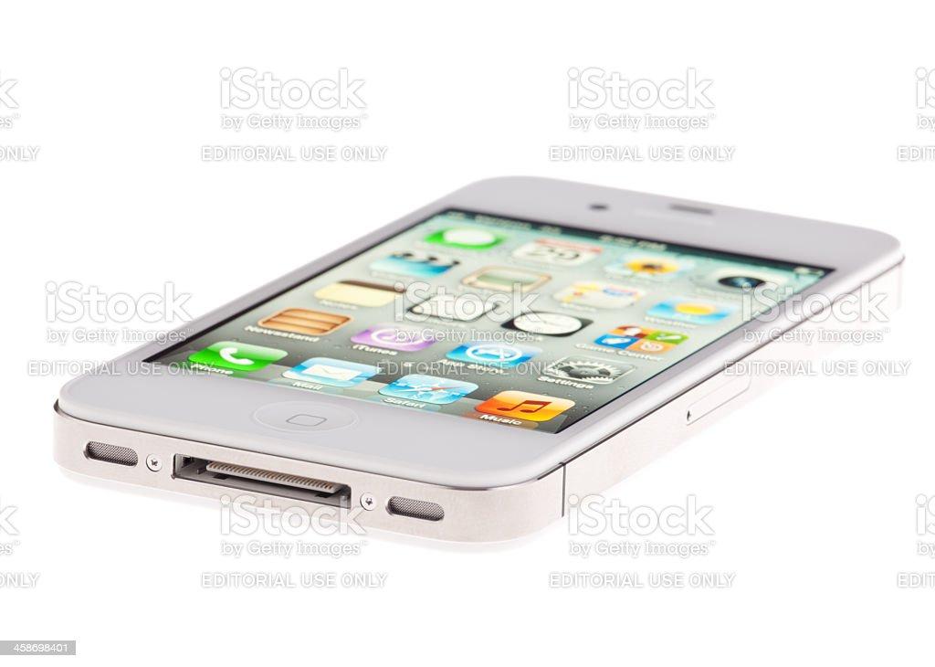 4fe27ea14d7 Blanco para Apple iPhone 4S alimentación y establecer en foto de stock  libre de derechos