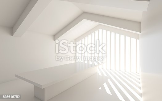 694008266istockphoto White architectural space with sunlight 693616752