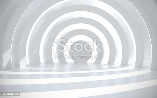 694008266istockphoto White architectural space with sunlight 694008260