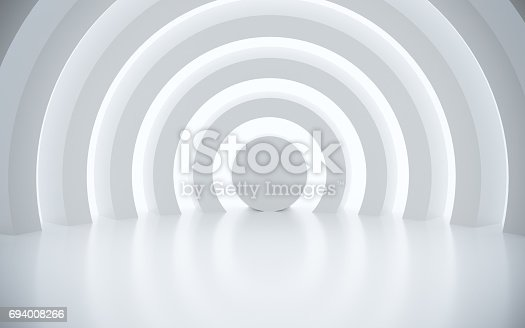 istock White architectural space with sunlight 694008266