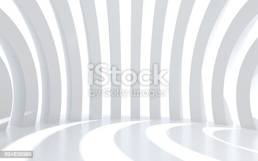 694008266istockphoto White architectural space with sunlight 694838966