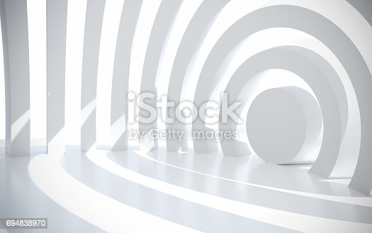 694008266istockphoto White architectural space with sunlight 694838970