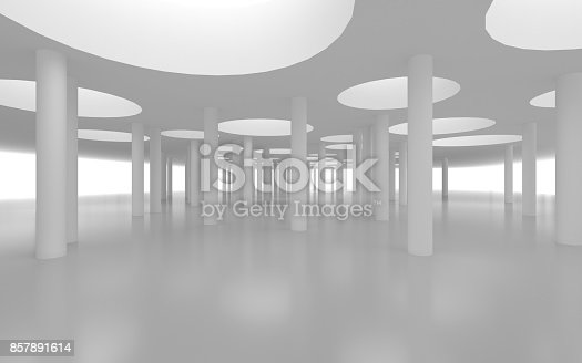 694008266istockphoto White architectural space with sunlight 857891614