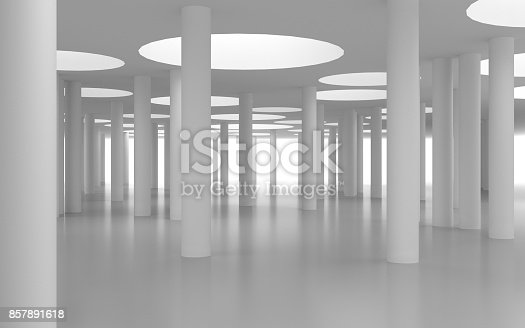 694008266istockphoto White architectural space with sunlight 857891618