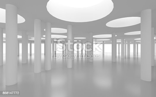 694008266istockphoto White architectural space with sunlight 858147772