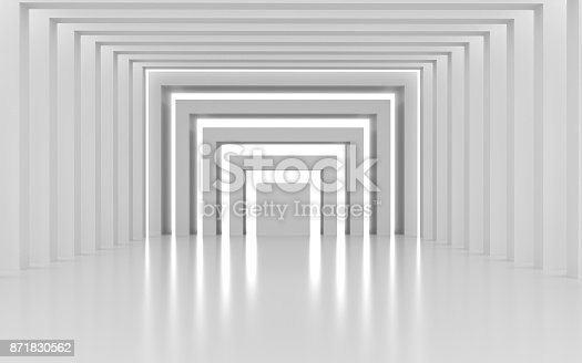 694008266istockphoto White architectural space with sunlight 871830562