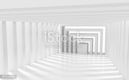 694008266istockphoto White architectural space with sunlight 873158392