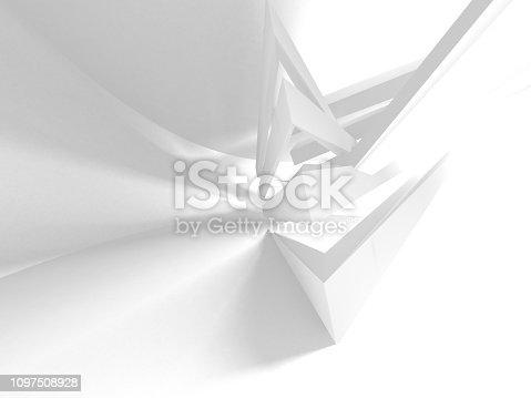 istock White Architecture Construction Modern Interior Background 1097508928