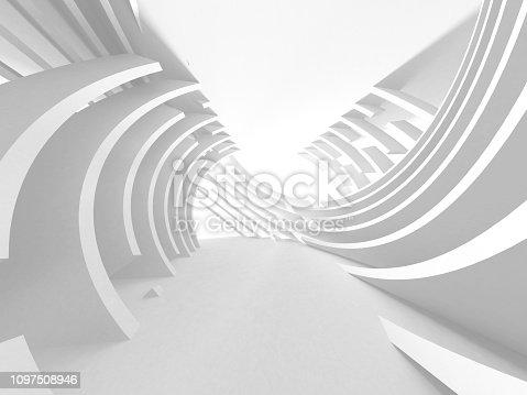 istock White Architecture Construction Modern Interior Background 1097508946