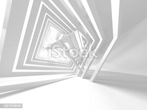 istock White Architecture Construction Modern Interior Background 1097509092