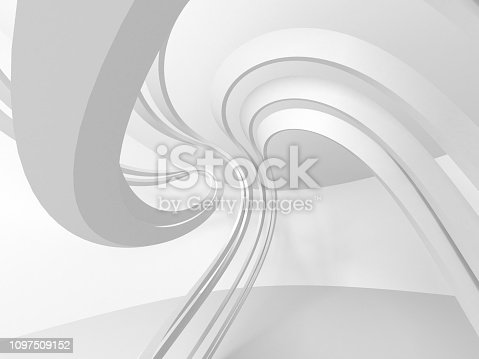 istock White Architecture Construction Modern Interior Background 1097509152