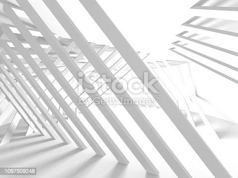 istock White Architecture Construction Modern Interior Background 1097509248