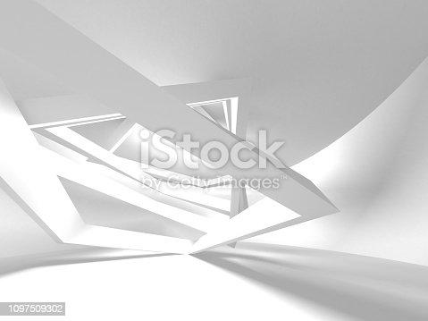 istock White Architecture Construction Modern Interior Background 1097509302