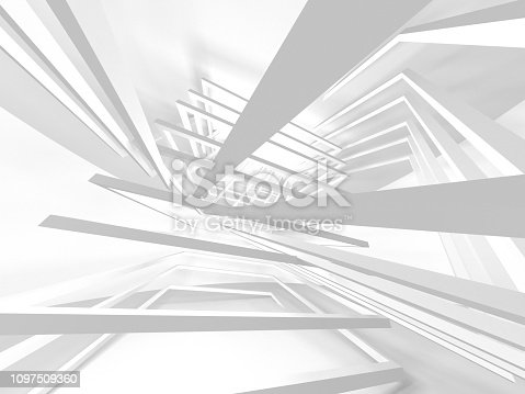 istock White Architecture Construction Modern Interior Background 1097509360