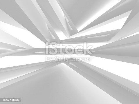 istock White Architecture Construction Modern Interior Background 1097510446