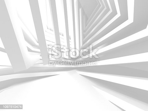 istock White Architecture Construction Modern Interior Background 1097510474