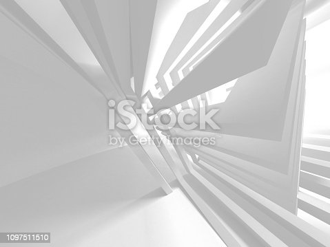 istock White Architecture Construction Modern Interior Background 1097511510