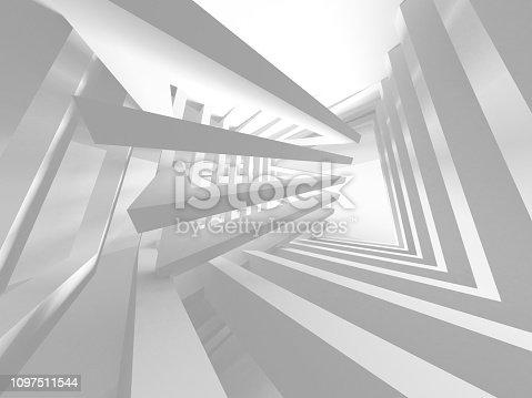 istock White Architecture Construction Modern Interior Background 1097511544