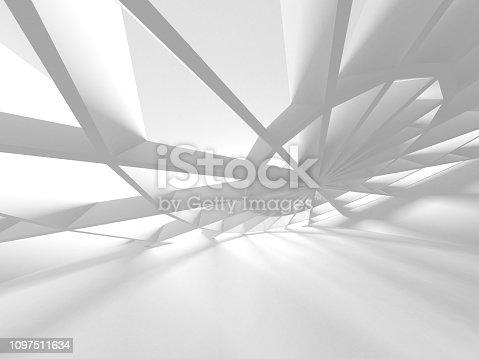 istock White Architecture Construction Modern Interior Background 1097511634