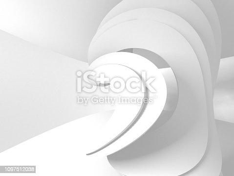 istock White Architecture Construction Modern Interior Background 1097512038