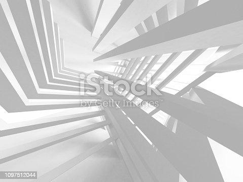 istock White Architecture Construction Modern Interior Background 1097512044