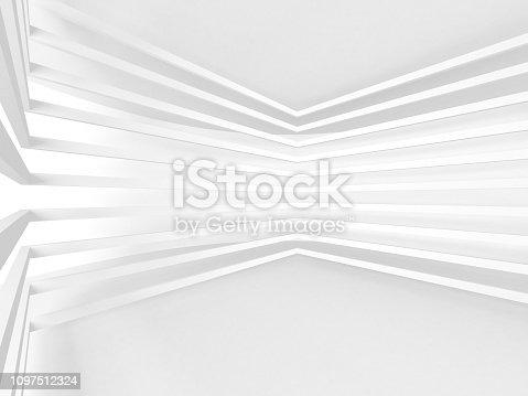 istock White Architecture Construction Modern Interior Background 1097512324