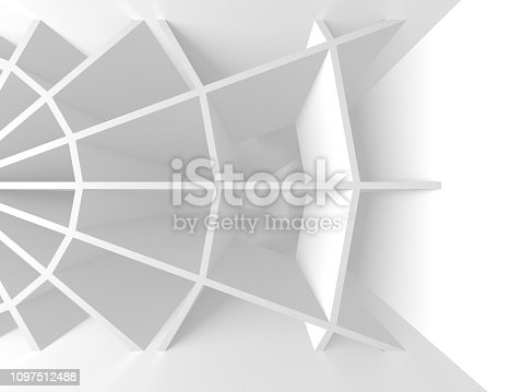 istock White Architecture Construction Modern Interior Background 1097512488