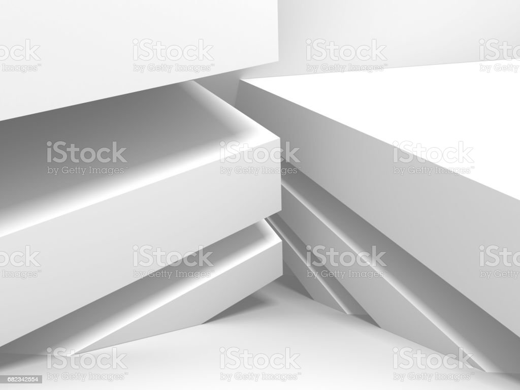 White Architecture Construction Modern Interior Background foto stock royalty-free