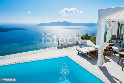 istock White architecture on Santorini island, Greece. 476988858
