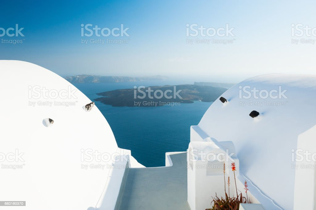 White architecture on Santorini island, Greece. 免版稅 stock photo