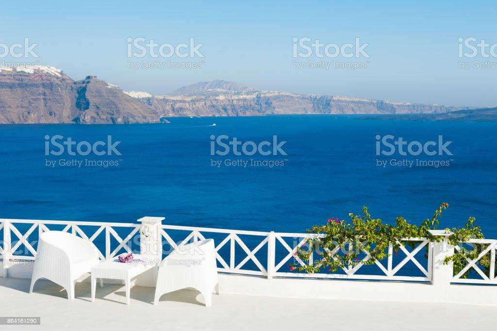 White architecture on Santorini island, Greece. royalty-free stock photo